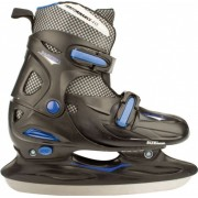 Nijdam Ijshockeyschaats 3024 Junior Zwart Blauw Maat 30/33