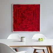 Rosenblüten-Bild, 30 x 30 cm