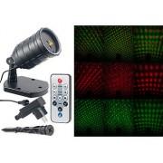Laser-Projektor mit Sternenregen-Lichteffekt, Fernbedien., Timer, IP65 | Laser Projektor