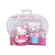 Hello Kitty Shower Gel set cadou gel de dus 30 ml + sapun + figurina Hello Kitty pentru copii