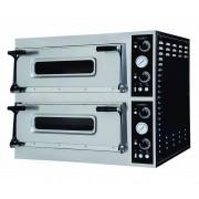 Combisteel Four à Pizza Électrique Double 2x 6 Pizza Ø400mm 400V 1100x1074x745(h)mm