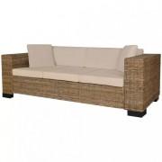 Koohashop Set canapea de 3 locuri din poliratan 8 piese