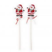 Geen 2x Kerststukje onderdelen stekers met sneeuwpoppen 30 cm