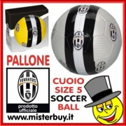 PALLONE CUOIO UFFICIALE JUVENTUS n. 5 GIALLO
