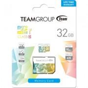Карта памет Team Group Color Card II 32GB Micro SDHC/SDXC UHS-I U3 + SD Adapter