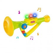 "10"" Musical Toy Trumpet Instrument for Kids with Music and Lights"