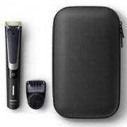Тример Philips QP6510/64, OneBlade Pro, Гребен за оформяне, 12 настройки, за сухо и мокро ползване, калъф за съхранение