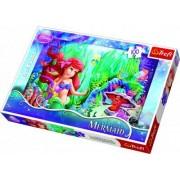 Disney Den lilla Sjöjungfrun prinsessan Ariel pussel - 100 bitar