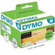 DYMO Adresetiketten 99013 36 x 89 mm Transparant 260 Etiketten
