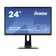 Iiyama X2483HSU-B3 LED-monitor 61 cm (24 inch) Energielabel B 1920 x 1080 pix Full HD 4 ms Hoofdtelefoon (3.5 mm jackplug), DisplayPort, HDMI, VGA, USB AH-IPS