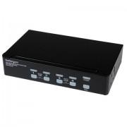StarTech.com Switch KVM dual link DVI USB alta risoluzione a 4 porte con audio