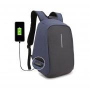 """Backpack de 17"""" para laptop Mc.Carthy Mod. MC19-2 Negro/Azul"""