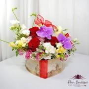 "Cutie cu flori ""Inima cu flori"""