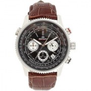 Rotary Round Dial Brown Analog For Men-Gs0010004Brn