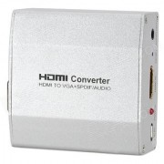 HDMI to VGA + SPDIF Audio Converter 1080p HD for Projector n More
