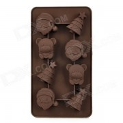 precioso arbol de navidad santa y oso en forma de 8 tazas de silicona DIY molde para pastel / chocolate - cafe