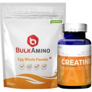 Advance Nutratech BulkAmino Egg Whole Powder 300gram(1.1lbs) UnflavouredCreatine Monohydrate unflavored 100g