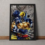 Quadro Decorativo Wolverine Marvel 35x25