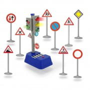 Semafor City Traffic cu semne rutiere Dickie Toys