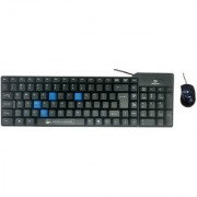 Beekonnect ECO Wired USB Laptop Keyboard Mouse(Black)