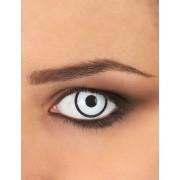 Vegaoo Witte en zwarte contactlenzen voor volwassenen One Size