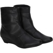 Kraasa Girls Long Boots For Women(Black)