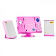 OneConcept V 12 sistem stereo cu MP3-CD player USB, SD AUX, roz cu etichete (MG3-V12-Pink+sticker)