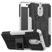 Capa Híbrida Antiderrapante para Nokia 6 - Branco / Preto
