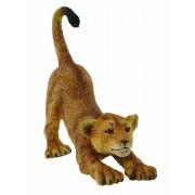 Pui de leu care se intinde S - Animal figurina