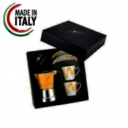 "Set Espressor Moka model ""Top 2 "" ORANGE"