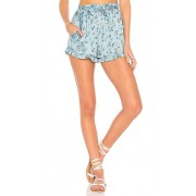 For Love & Lemons Spring Bloom Ruffle Shorts in Blue. - size M (also in L,S,XS)