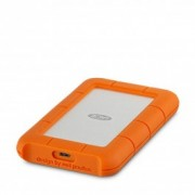 Lacie - 1TB Rugged USB-C - Silver/Orange