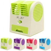 Right traders Mini Small Fan Cooling Portable Desktop Dual Bladeless water Air Cooler USB (Random Color)