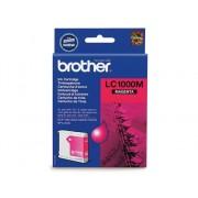 Brother Cartucho de tinta Original BROTHER LC1000M Magenta para BROTHER DCP-350, 353, 357, 560, 750, 770, MFC-3360, 465, 5460, 5860, 660, 680, 845, 885