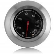 EH Horno De Acero Inoxidable Redondo Termómetro De Metal Doble 60-430 Grados Celsius