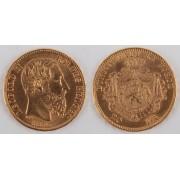 Zlatá mince: 20 Frank 1875