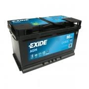 EXIDE Start-Stop AGM EK800 12V 80Ah autó akkumulátor jobb+
