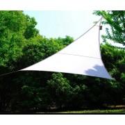 nbrand Vela 5x5x5 Mt Bianco Vela Ombreggiante Triangolare 5x5x5 Metri Copertura Telo Tenda Parasole Da Giardino 160 G/mq Colore Bianco - Vela