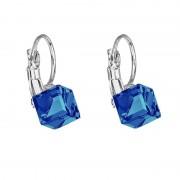 Cercei cu cristale Swarovski FaBOS, Bermuda blue 7440-5107-05