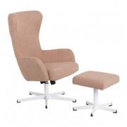 Кресло с табуретка, LEXI, златно бежов (3550906)