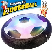 AMENON Kids Air Power Soccer Football Size 4 Boys Girls Sport Children Toys Training Football Indoor Outdoor Disk Hover Ball Game with Foam Bumpers and Light up LED Lights