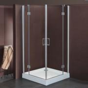 Box doccia ad angolo a battente Sonia da 77/80 a 117/120 cm in cristallo 6 mm Satinato Trasparente DX