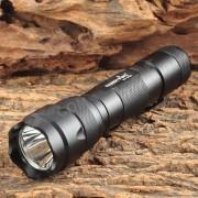FANDYFIRE WF-502B 650lm 1-LED Cool Luz Blanca 5-Modo linterna - Negro (1 x 18650)
