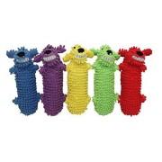 MULTIPET Loofa Botella de Agua Buddy Perro Juguete, 11 Pulgadas, los Colores Pueden Variar