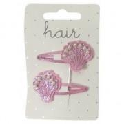 Geen Roze schelpen klikklak haarspeldjes 2 stuks