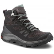 Туристически SALOMON - Outline Mid Gtx GORE-TEX 404844 21 V0 Black/Magnet/Green Milieu