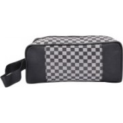 PSH single zip plane cheak Travel Shaving Bag(Black)