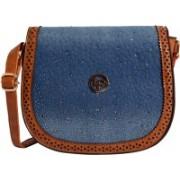 Lino Perros Tan, Blue Sling Bag