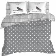 Lenjerie de pat pentru 2 persoane 4 piese Enlora home vektor - grey 240x260 100 bumbac ranforce