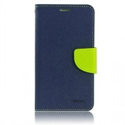 Mercury synthetic leather Wallet Magnet Design Flip Case Cover for Sony Xperia M2 - Blue Green